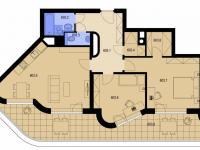 půdorys (Prodej bytu 3+kk v osobním vlastnictví 107 m², Praha 9 - Kyje)
