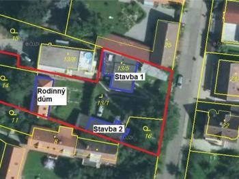 Katastrální mapa - Prodej domu v osobním vlastnictví 95 m², Praha 5 - Lahovice