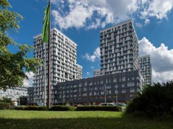Pohled na bytový komplex - Pronájem bytu 2+kk v osobním vlastnictví 71 m², Praha 3 - Žižkov