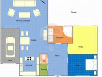 Plánek místností (Prodej domu v osobním vlastnictví 213 m², Šestajovice)