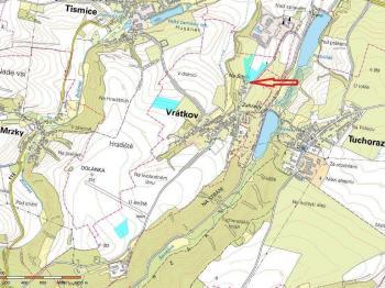 lokalita - výřez z katastrální mapy - Prodej pozemku 3673 m², Vrátkov