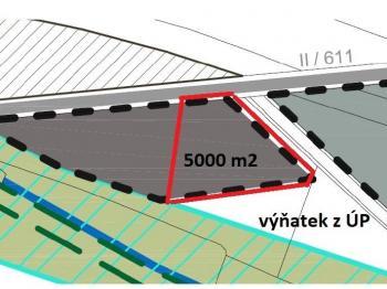 výňatek z ÚP - Prodej pozemku 5000 m², Šestajovice