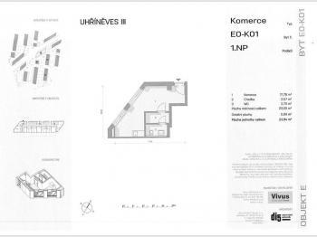 Pronájem obchodních prostor 23 m², Praha 10 - Uhříněves