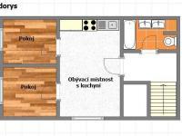 Pronájem bytu 3+kk v osobním vlastnictví 65 m², Šestajovice