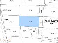 snímek katastrální mapy - Prodej pozemku 1066 m², Horoušany