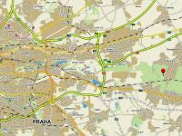 mapa - Prodej restaurace 916 m², Praha 9 - Klánovice