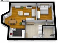 Půdorys 1NP - Prodej domu v osobním vlastnictví 269 m², Praha 9 - Horní Počernice