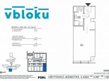 Prodej bytu 2+kk v osobním vlastnictví 39 m², Praha 5 - Stodůlky