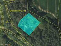 snímek z katastrální mapy - Prodej chaty / chalupy 85 m², Vranov