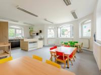 jídelna a kuchyně - Pronájem kancelářských prostor 144 m², Praha 9 - Újezd nad Lesy