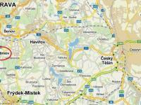 zdroj: mapy.cz (Prodej pozemku 30000 m², Vratimov)