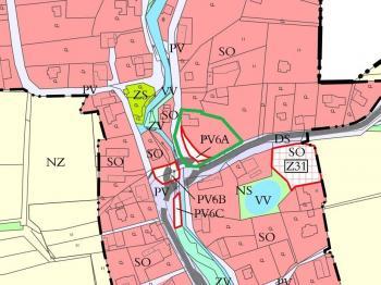 mapka územní plán - Prodej restaurace 260 m², Ženklava