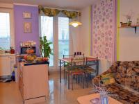 Francouzské okno, jídelna, obývací kout (Prodej bytu 3+kk v osobním vlastnictví 74 m², Olomouc)