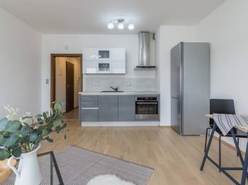 Kuchyňský kout - Prodej bytu 1+kk v osobním vlastnictví 31 m², Praha 7 - Holešovice