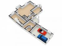 půdorys přízemí - obchodní prostory a garáž - Prodej domu v osobním vlastnictví 328 m², Voleč