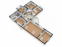 půdorys bytu v 1. patře - Prodej domu v osobním vlastnictví 328 m², Voleč