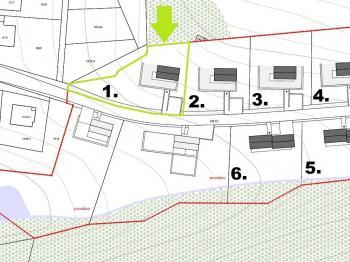 Prodej pozemku 1129 m², Hlubočky