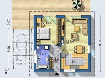 Prodej projektu na klíč 58 m², Brno