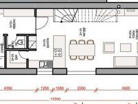 půdorys přízemí (Prodej domu v osobním vlastnictví 115 m², Rousínov)