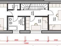půdorys první patro (Prodej domu v osobním vlastnictví 115 m², Rousínov)