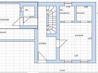 přízemí - byt 1+kk, dvorek (Prodej domu v osobním vlastnictví 110 m², Rousínov)