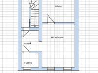 první patro - byt 2+kk (Prodej domu v osobním vlastnictví 110 m², Rousínov)
