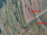 Mapa - pohled (Prodej pozemku 6460 m², Břeclav)