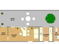 dispoziční plánek (Pronájem kancelářských prostor 16 m², Hodonín)