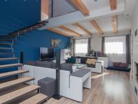 obývací pokoj v přízemí - Prodej domu v osobním vlastnictví 253 m², Sobůlky