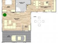 dispoziční plánek přízemí - Prodej domu v osobním vlastnictví 253 m², Sobůlky