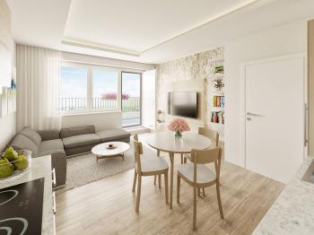 Budova A - Prodej bytu 3+kk v osobním vlastnictví 76 m², Unhošť