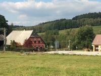 Pohled od nejbližšího lesa  - Prodej chaty / chalupy 210 m², Zbytiny
