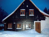 Pohled na dům v zimním období. - Prodej chaty / chalupy 216 m², Jiřetín pod Jedlovou