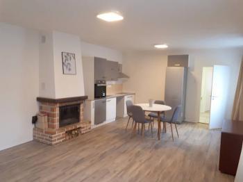 Obývací pokoj a kuchyň. - Pronájem domu v osobním vlastnictví 125 m², Otmíče