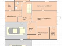Půdorys přízemí (Prodej domu v osobním vlastnictví 242 m², Zbelítov)