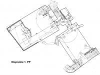 Dispozice 1. PP (Prodej domu 600 m², Tábor)