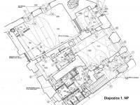 Dispozice 1. NP (Prodej domu 600 m², Tábor)