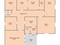 Půdorys dům (Prodej domu v osobním vlastnictví 121 m², Krásná Hora nad Vltavou)