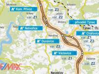 Plánovaná trasa dálnice (Prodej pozemku 22964 m², Netvořice)