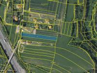 Katastrální mapa (Prodej pozemku 3448 m², Hrusice)