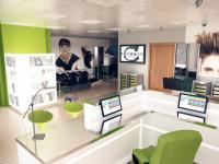 návrh na kadeřnictví (vizualizace) (Prodej obchodních prostor 76 m², Plzeň)