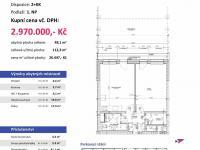 půdorys - Prodej bytu 2+kk v osobním vlastnictví 112 m², Plzeň