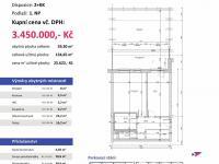 půdorys (Prodej bytu 2+kk v osobním vlastnictví 135 m², Plzeň)