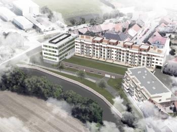 vizualizace objektu - Prodej bytu 1+kk v osobním vlastnictví 55 m², Plzeň