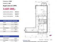 půdorys - Prodej bytu 2+kk v osobním vlastnictví 97 m², Plzeň