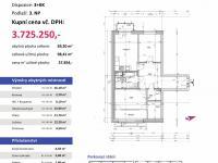 půdorys - Prodej bytu 3+kk v osobním vlastnictví 98 m², Plzeň