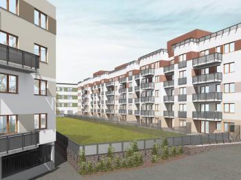 vizualizace objektu - Prodej bytu 1+kk v osobním vlastnictví 54 m², Plzeň