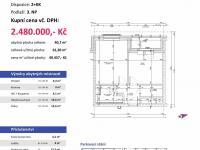 půdorys (Prodej bytu 2+kk v osobním vlastnictví 61 m², Plzeň)