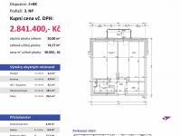 půdorys (Prodej bytu 2+kk v osobním vlastnictví 75 m², Plzeň)