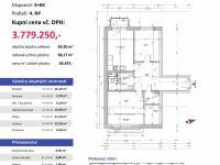 půdorys (Prodej bytu 3+kk v osobním vlastnictví 98 m², Plzeň)